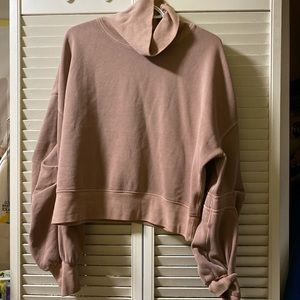 Free people dusty pink cropped sweater